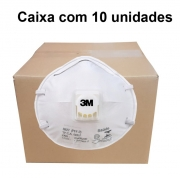 Mascara Pff2 Com Valvula 8822 - 3M - Ca 5657 Caixa com 10 unidades