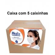 Mascara Tripla C/Elastico Caixa com 50 Un - Medix Kit com 5 caixas