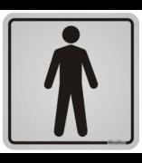 Placa Banheiro Masculino Aluminio 12X12Cm 10