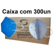 Respirador Descartável N95 PFf2 Sem válvula - Super Safety - CA 44796 Caixa com 300un