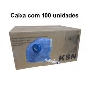 Respirador Pff1 Com Válvula Ksn - CA 10577 Caixa com 100 un