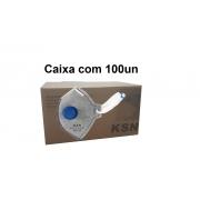 Respirador PFF2 Carvão Com Valvula - KSN - CA 10579 Caixa com 100un