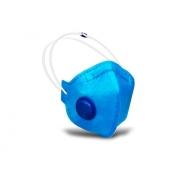 Respirador PFF2 Com Válvula Rhino Azul - CA 34134