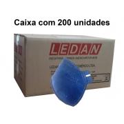 Respirador PFF2 Sem Válvula 2302-P2 Ledan Azul - CA11993 Caixa com 200 un