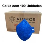 Respirador PFF2 Sem Válvula - Átomos - CA 44527 Caixa Com 100 Unidades
