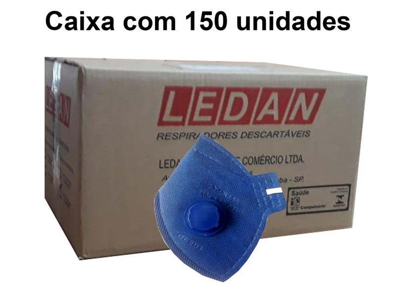 Respirador PFF2 Com Válvula 2306-P2 Ledan Azul - CA13121Caixa c/ 150un