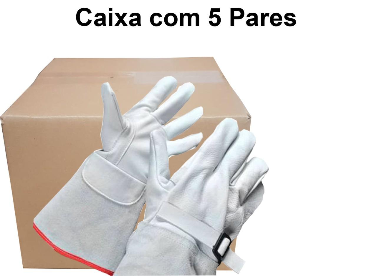 5 Pares de Luva de Cobertura Em Vaqueta - Marasca - P15 Ca 28909