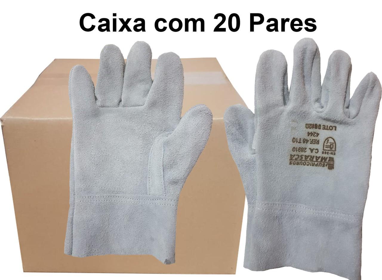 20 Pares de Luva de Raspa - Marasca - Punho 7cm - Ca 28910