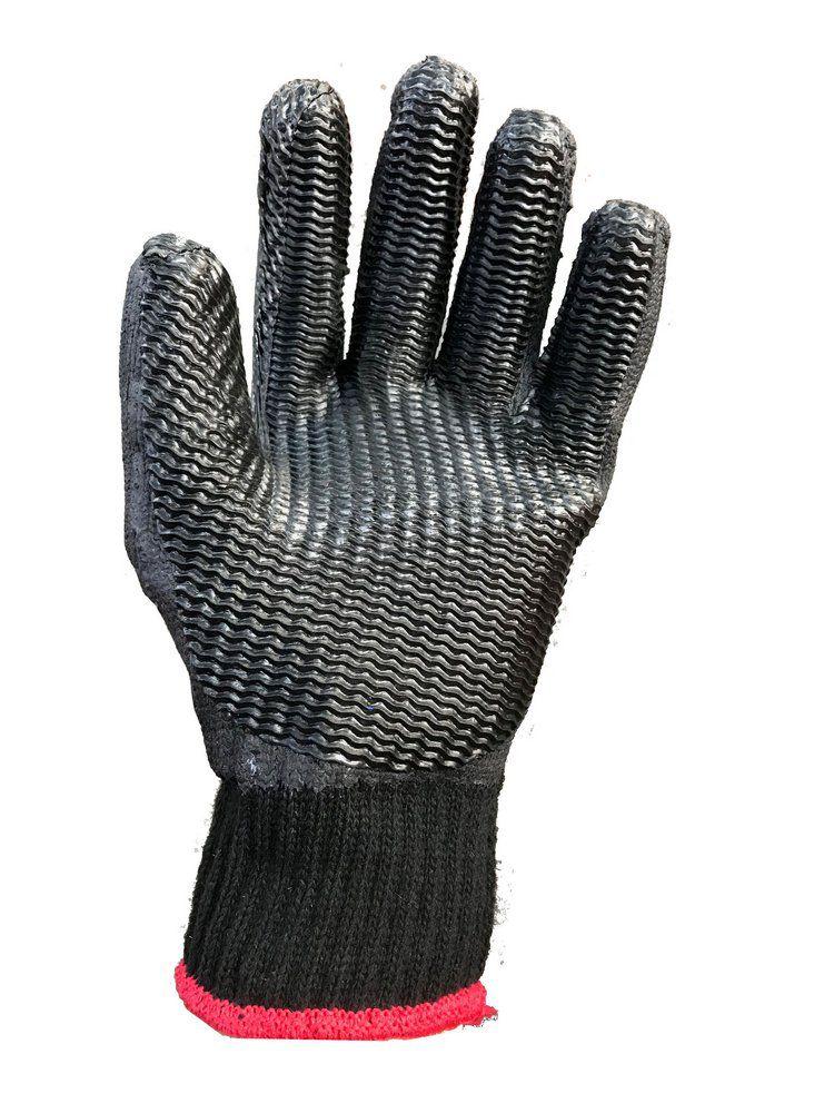 24 Pares de Luva Malha Vulc Rubber Black-Super Safety- Ca 34370