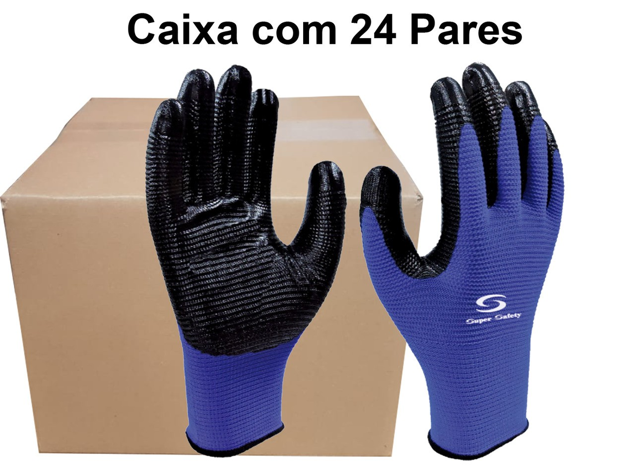24 Pares de Luva Nyn Ss1006N Super Safety -Ca 32038