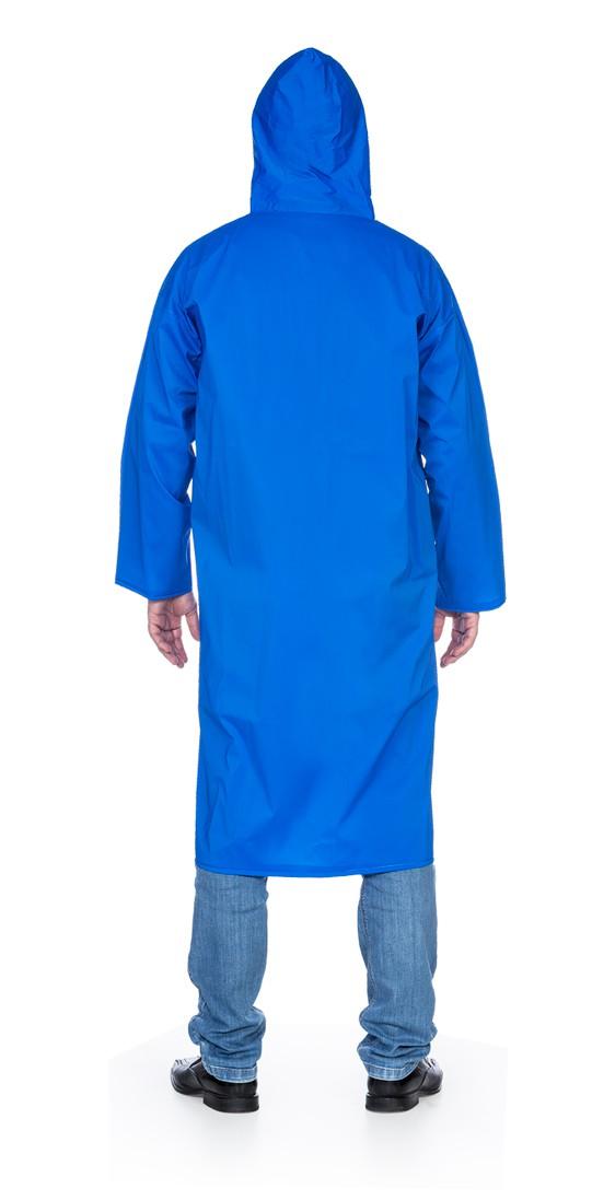 Capa PVC Forrado Com Capuz e Botão Azul 130X027 CA 31377