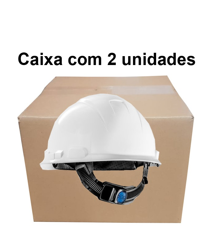 Capacete Aba Frontal H-700 Branco 3M - CA 29637 Caixa com 2 un