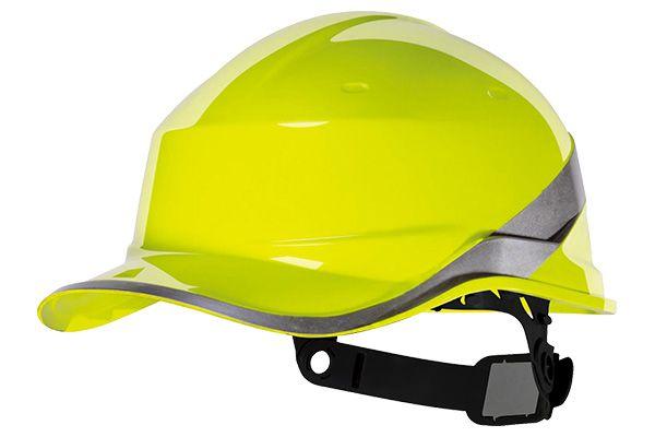 Capacete Baseball Diamond V - Deltaplus - Amarelo Ca 39041