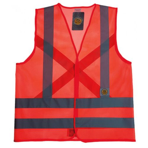 Colete Refletivo Hi-Vis(Laranja Tela)- Super Safety