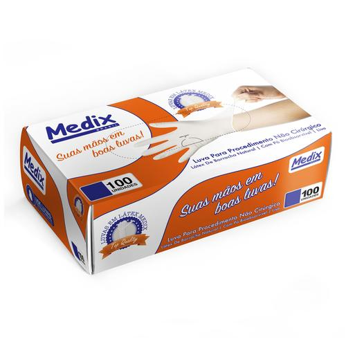 Luva Procedimento Descartável Top Quality C/Pó - Medix - 34204