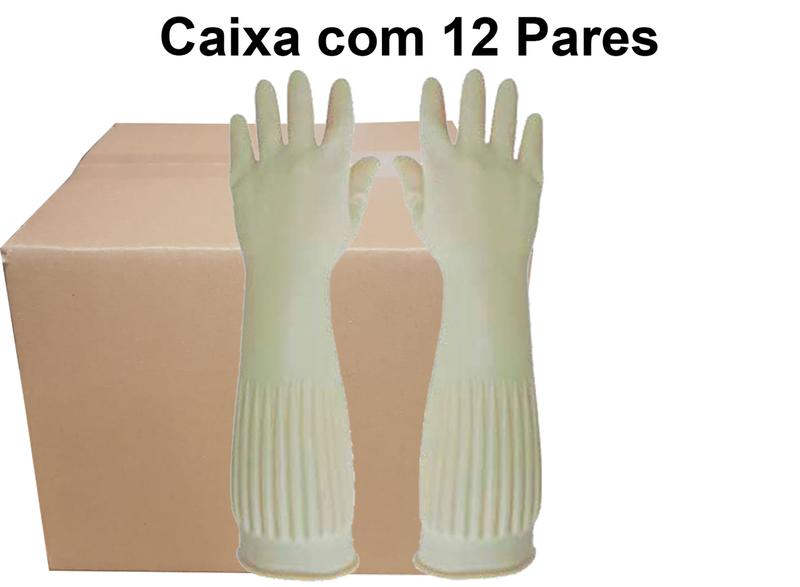 Luva Ranhurada Super Latex-Super Safety - Ca 37158 caixa com 12 pares