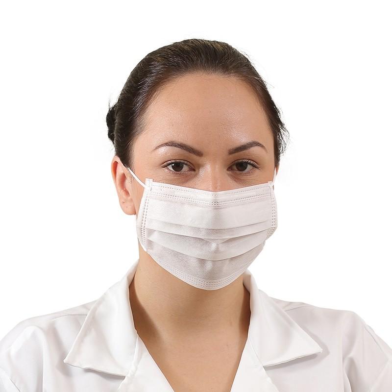 Mascara TNT Branca Tripla Clip Nasal Pacote c/50 - Prevemax