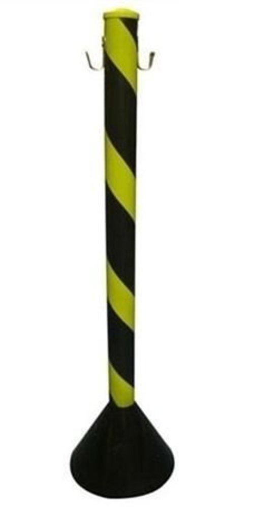 Pedestal Plastico Para Corente Preto/Amarelo