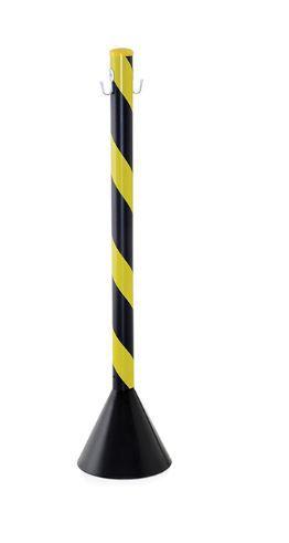 Pedestal Plastico Zebrado Pt/Am - 90Cm - Desmontado