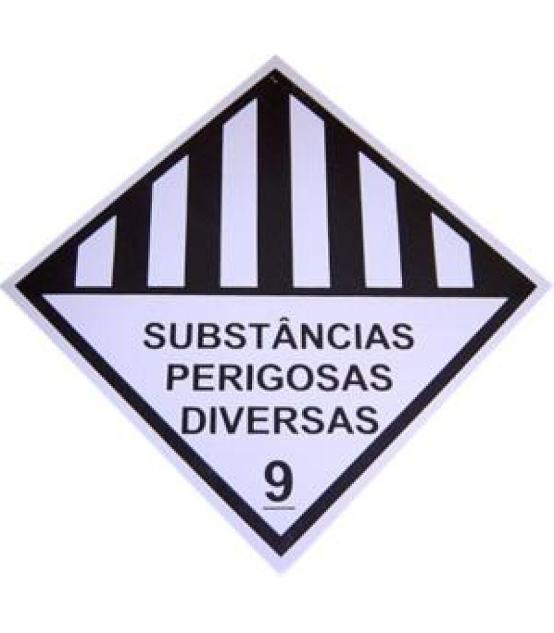 Placa Simbologia 9 - Subst Perigosa Diver - 33 X 33