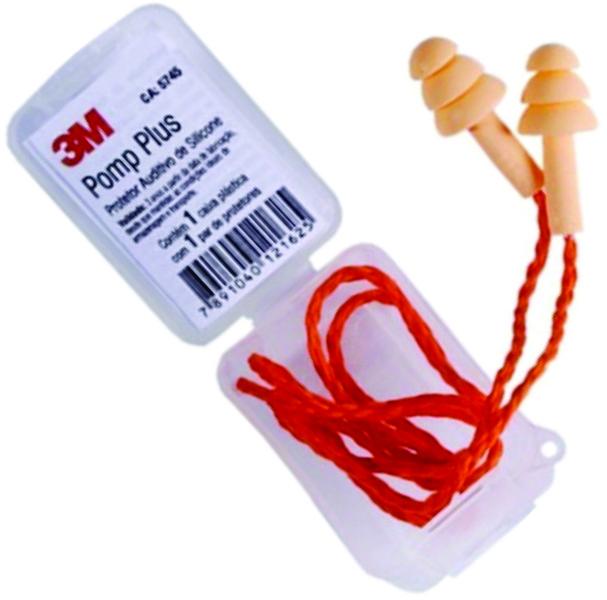 Plug Auricular Pomp Plus Silicone 3M- 18Db Ca -5745