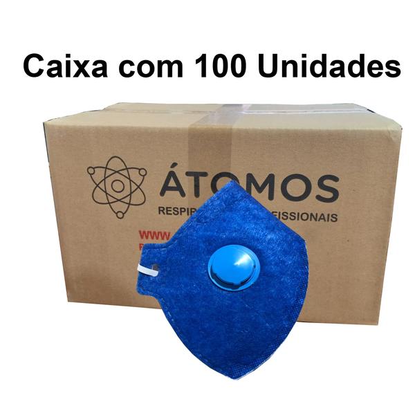Respirador PFF1 Com Válvula - Átomos - CA 45029 Caixa com 100 Unidades