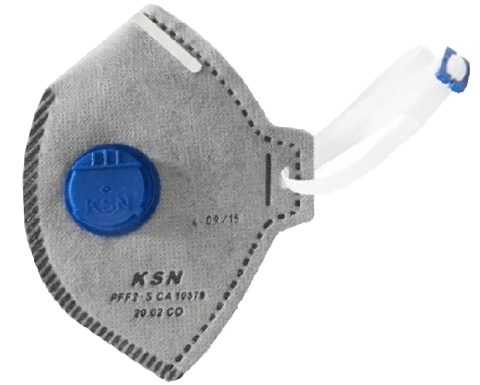 Respirador PFF2 Carvão Com Valvula - KSN - CA 10579