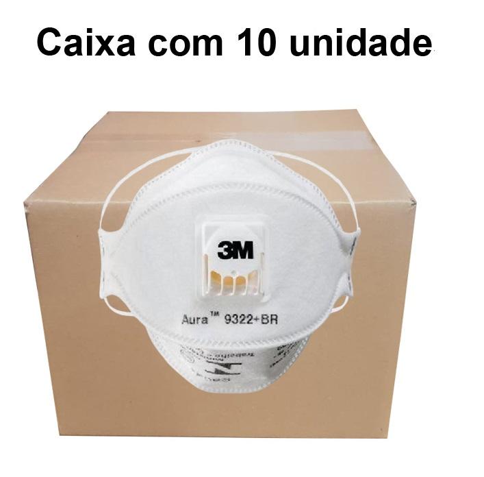 Respirador Pff2 Valvulado Z Aura 9322 - 3M - Ca 30594  Caixa com 10 un