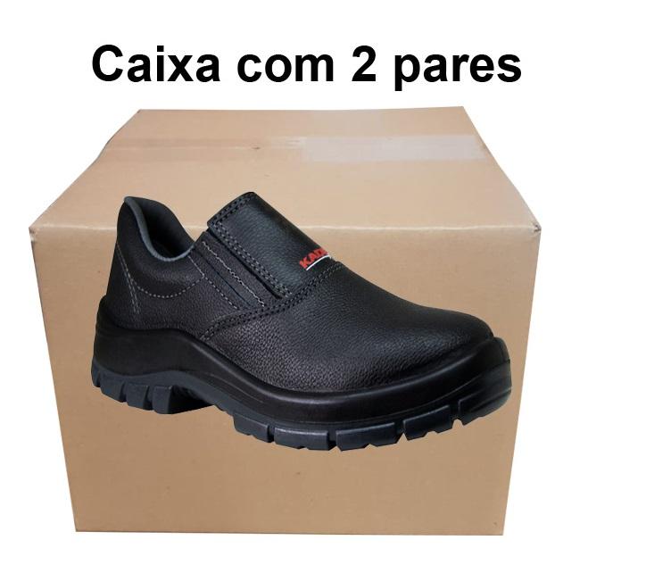 Sapato Couro Bidensidade Bp Preto - Kadesh - Ca 34923 Caixa com 2 pares