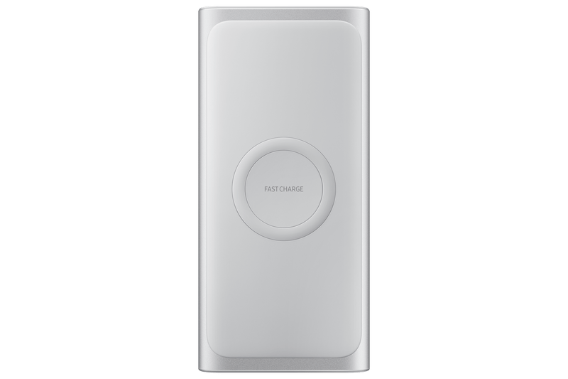 Bateria Externa Samsung Sem Fio Carga Rápida Wireless 10.000mAh - Prata