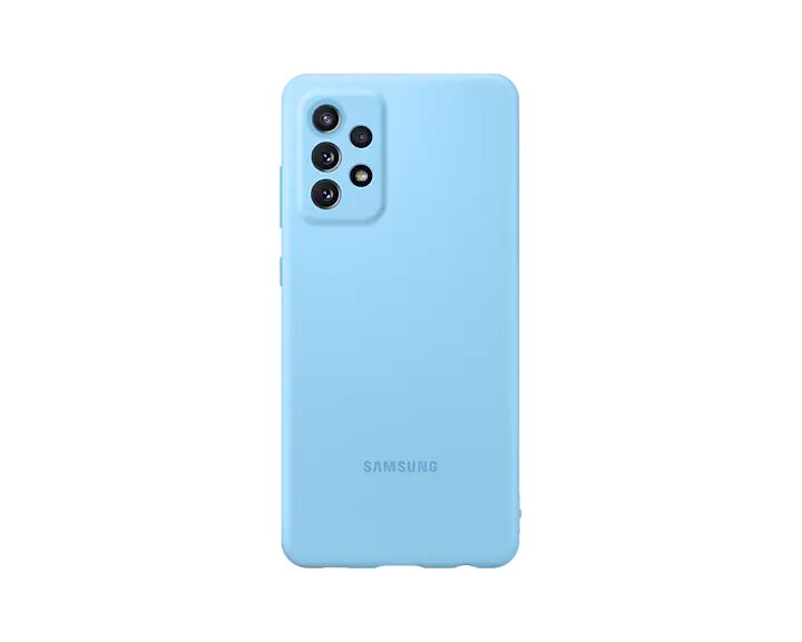 Capa protetora Samsung Galaxy A72 Silicone - Azul
