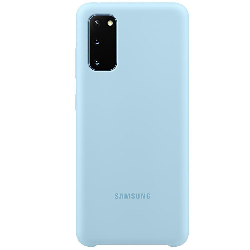 Capa Protetora Silicone Azul - Galaxy S20