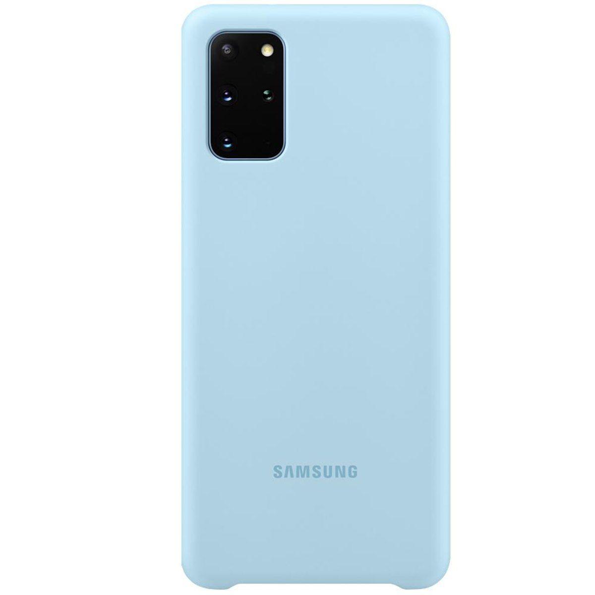 Capa Protetora Silicone Azul - Galaxy S20+