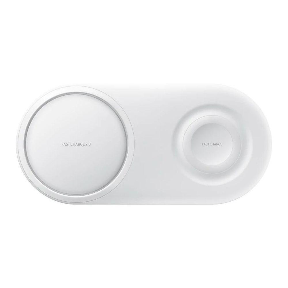 Carregador Rápido Sem Fio Duplo Pad Original Samsung Branco