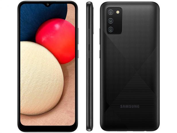 Smartphone Samsung Galaxy A02s 32GB - Preto, 4G, Câmera Tripla 13MP + Selfie 5MP, Processador Octa-core, RAM 3GB, Tela 6.5
