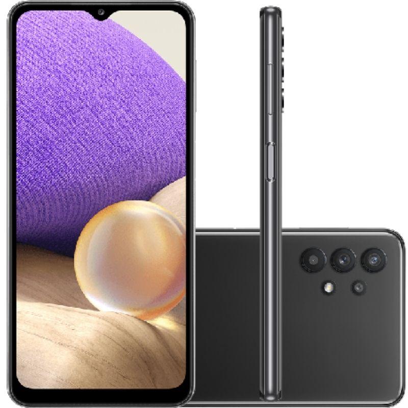 Smartphone Samsung Galaxy A32 128GB 5G - Preto, Câmera Quadrupla 48MP + Selfie 13MP, RAM 4GB, Tela 6.5