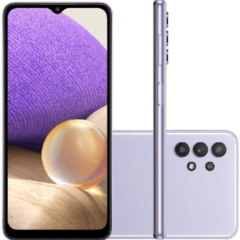 Smartphone Samsung Galaxy A32 128GB 5G - Violeta, Câmera Quadrupla 48MP + Selfie 13MP, RAM 4GB, Tela 6.5