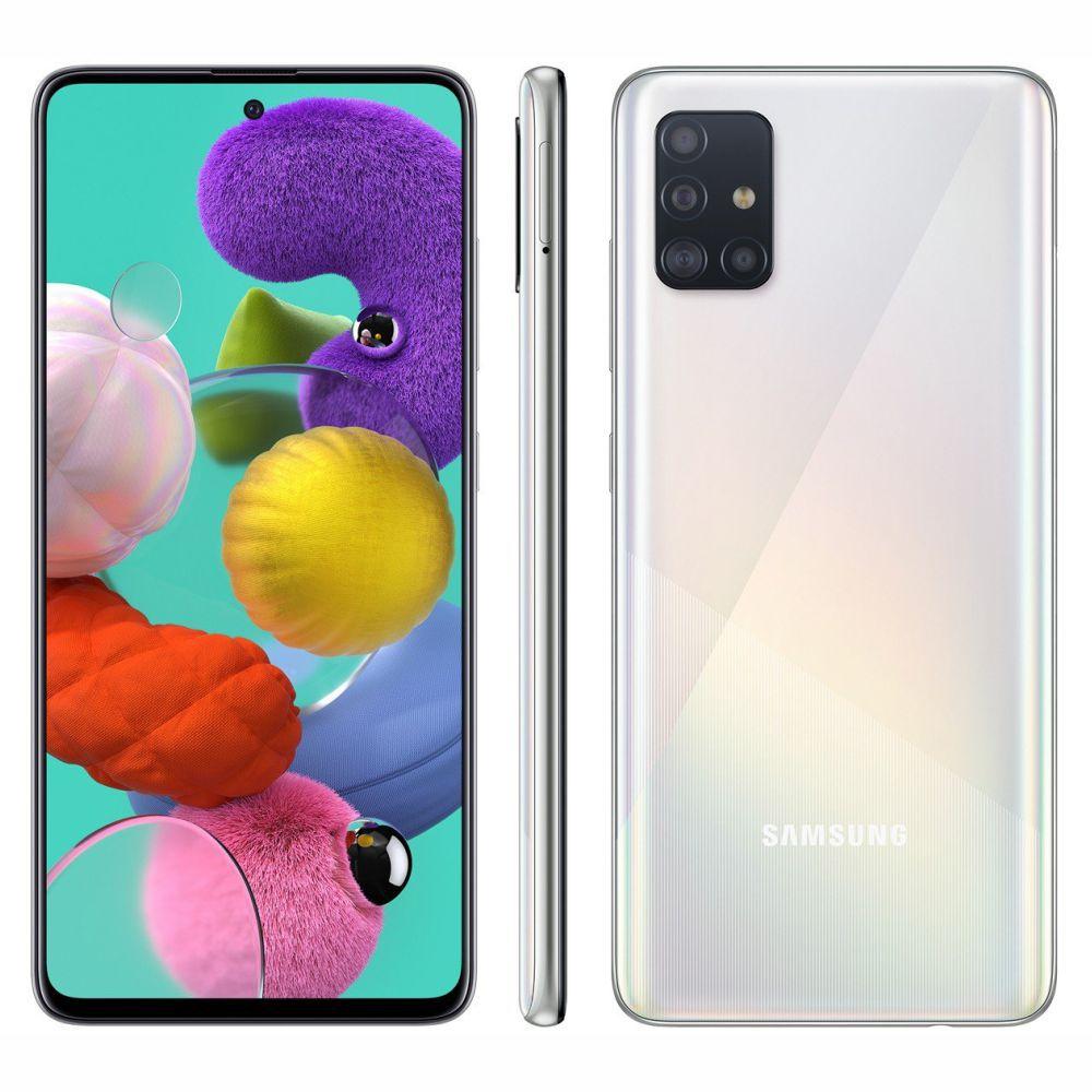 Smartphone Samsung Galaxy A51 128 GB - Branco, 4G, Câmera Quadrupla 48MP + Selfie 32MP, RAM 4GB, Tela 6.5