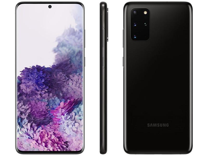 Smartphone Samsung Galaxy S20+ 128 GB - Preto (Cosmic Black), 4G, Câmera Quádrupla 64MP + Selfie 10MP, RAM 8GB, Tela 6.7