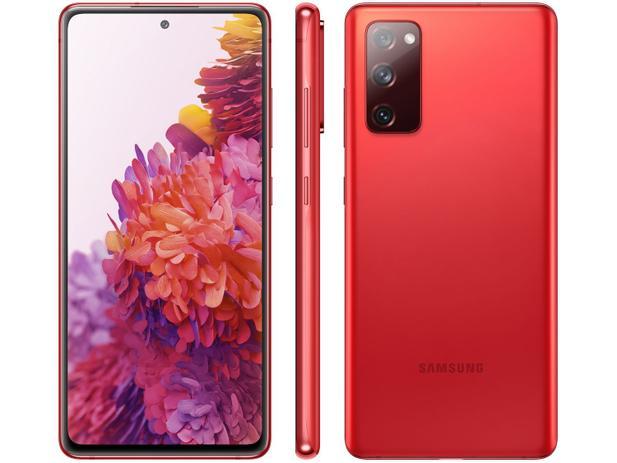Smartphone Samsung Galaxy S20 FE 128GB - Vermelho (Cloud Red), 4G, Câmera Frontal 32MP, RAM 6GB, Tela 6.5