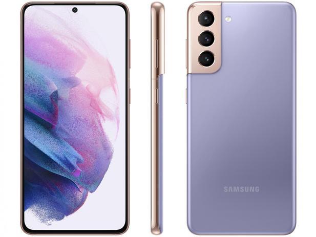 Smartphone Samsung Galaxy S21 128GB 5G - Violeta, Câmera Tripla 64MP + Selfie 10MP, RAM 8GB, Tela 6.2