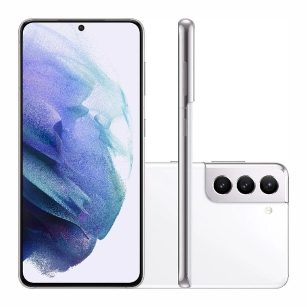 Smartphone Samsung Galaxy S21 128GB 5G - Branco, Câmera Tripla 64MP + Selfie 10MP, RAM 8GB, Tela 6.2