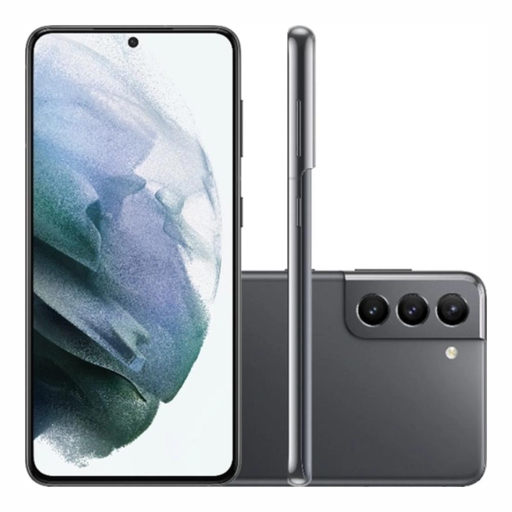 Smartphone Samsung Galaxy S21 128GB 5G - Cinza, Câmera Tripla 64MP + Selfie 10MP, RAM 8GB, Tela 6.2