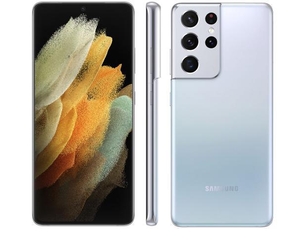 Smartphone Samsung Galaxy S21 Ultra 256GB 5G - Prata, Câmera 108MP + Selfie 40MP, RAM 12GB, Tela 6.8
