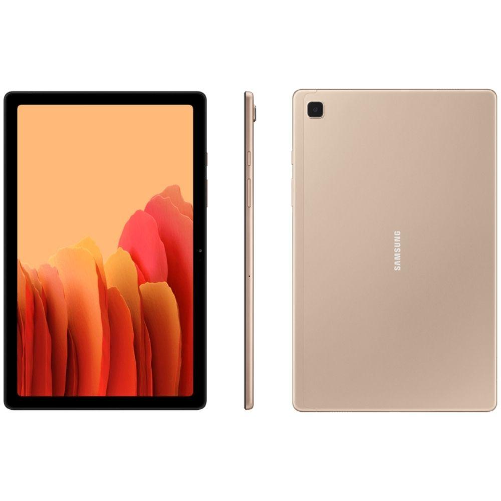 Tablet Samsung Galaxy Tab A7 Wi-Fi 64GB - Dourado, Tela 10.4