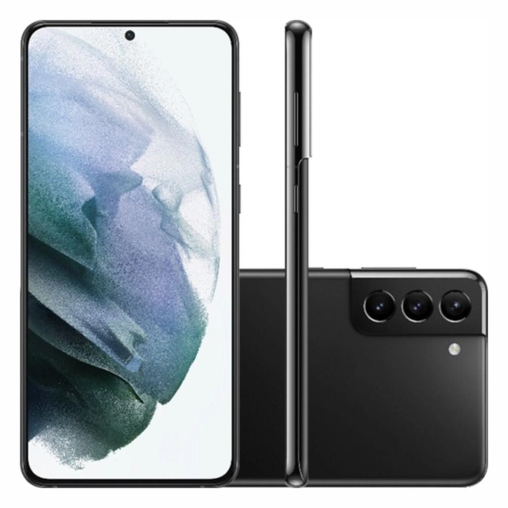Smartphone Samsung Galaxy S21+ 128GB 5G - Preto, Câmera Tripla 64MP + Selfie 10MP, RAM 8GB, Tela 6.7
