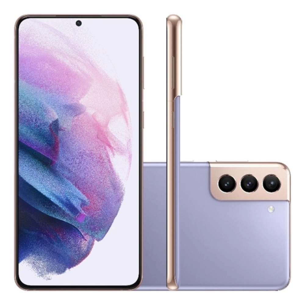 Smartphone Samsung Galaxy S21+ 256GB 5G - Violeta, Câmera Tripla 64MP + Selfie 10MP, RAM 8GB, Tela 6.7