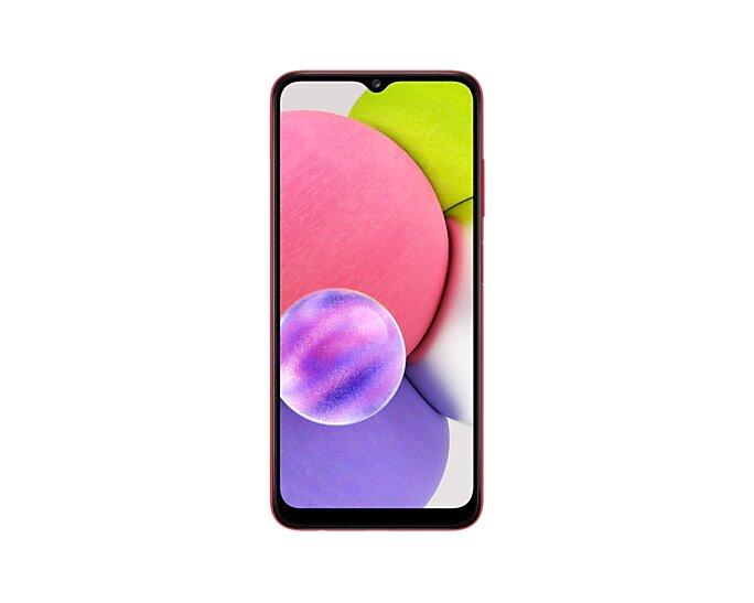 Smartphone Samsung Galaxy A03s 64GB - Vermelho, 4G, Câmera Tripla 13MP + Selfie 5MP, Processador Octa-core, RAM 4GB, Tela 6.5