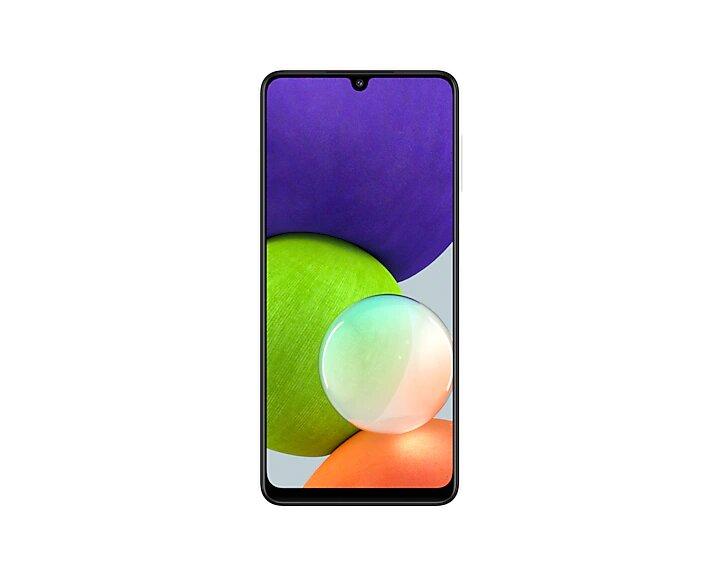 Smartphone Samsung Galaxy A22 128 GB - Branco, 4G, Câmera Quadrupla 48MP + Selfie 13MP, RAM 4GB, Tela 6.4