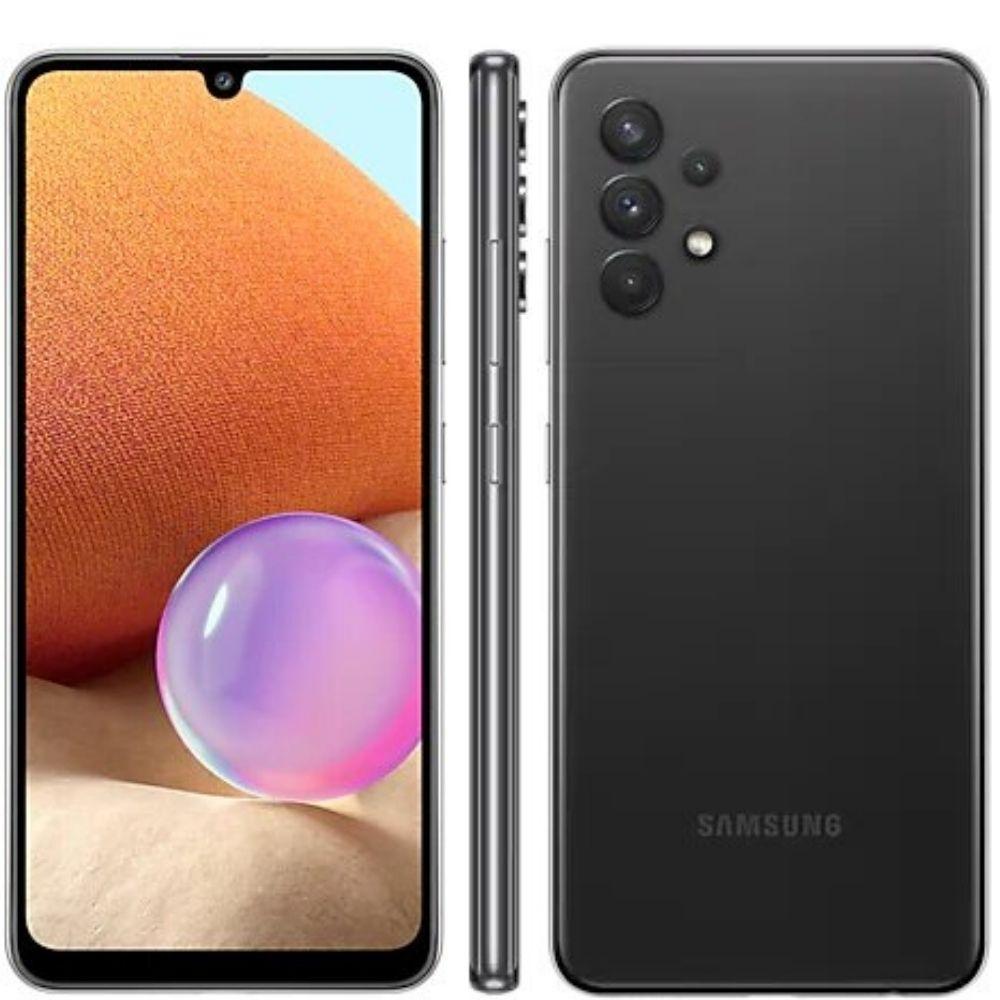 Smartphone Samsung Galaxy A32 128GB 4G - Preto, Câmera Quadrupla 64MP + Selfie 20MP, RAM 4GB, Tela 6.4